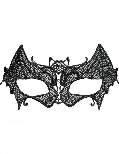 Mascherina dentellata pipistrello donna Halloween