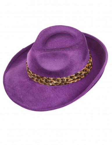 Cappello Pimp viola per adulto