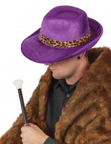 Cappello Pimp viola per adulto-1