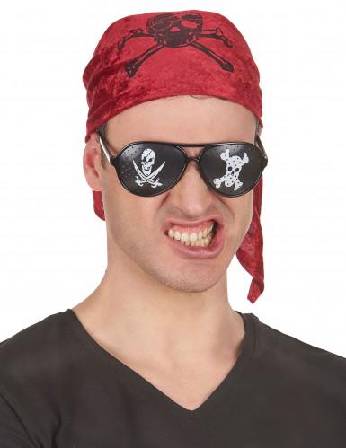 Occhiali neri pirata adulto-1
