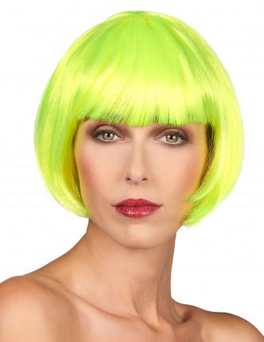 Parrucca corta fluo donna