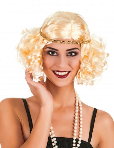 Parrucca bionda da donna anni '20