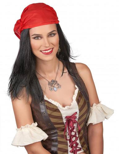 Parrucca Pirata con bandana per uomo