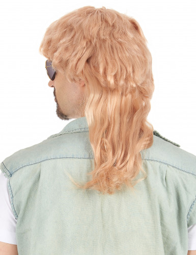 Parrucca taglio mullet bionda e liscia per uomo-1