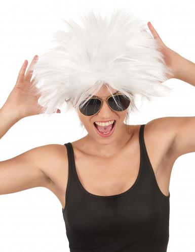 Parrucca bianca rockstar donna