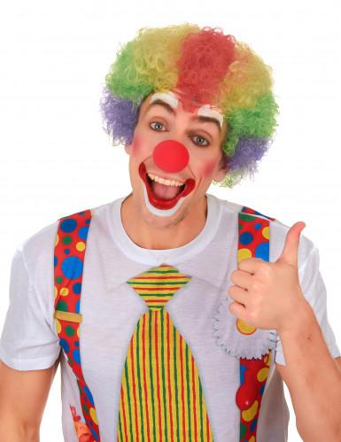 Parrucca afro multicolore clown adulto-1