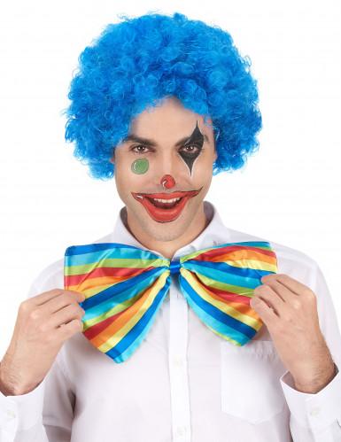 Parrucca afro/clown blu standard per adulto-1