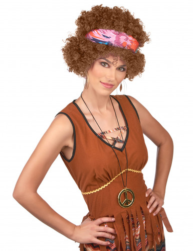 Parrucca afro hippie per adulto-1