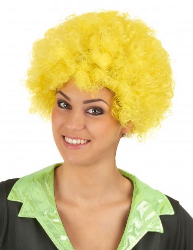 Perrucca afro/clown gialla confort adulto-1