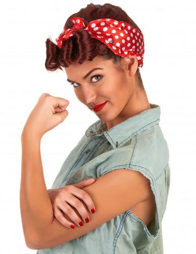 Parrucca Anni '50 con foulard per donna