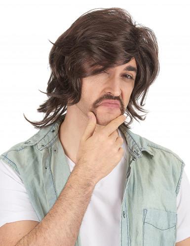 Parrucca da seduttore anni '70 per uomo