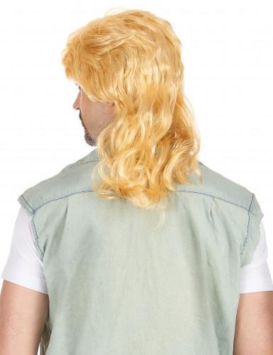Parrucca bionda mullet uomo-1