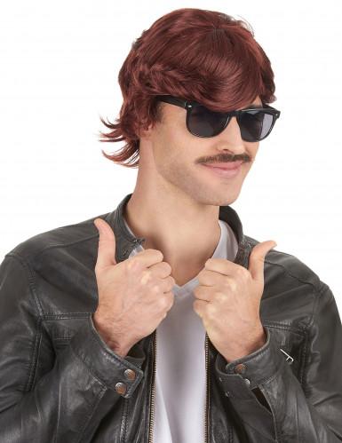 Parrucca corta anni '70 per uomo