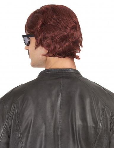 Parrucca corta anni '70 per uomo-1
