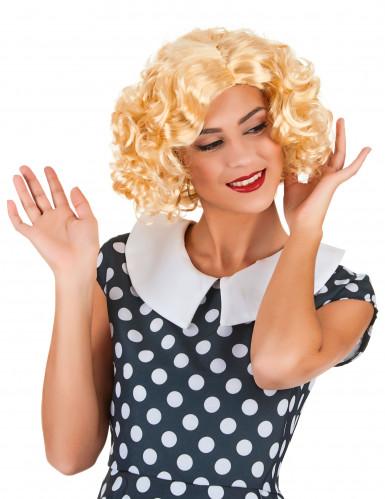 parrucca bionda corta per donna