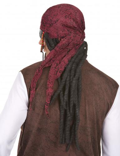 Parrucca con rasta lunghi e neri da uomo-1