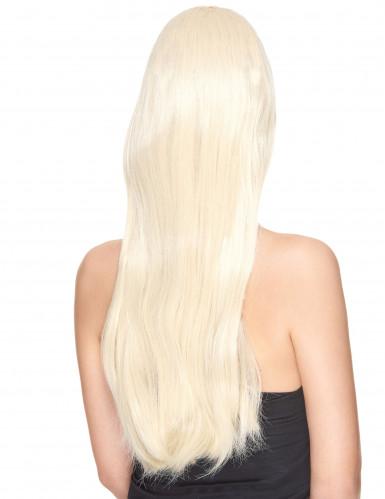 Parrucca deluxe lunga bionda da donna-1