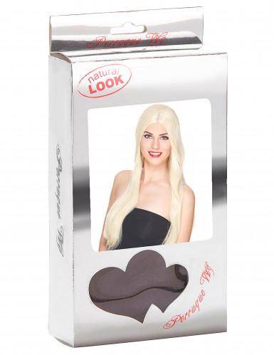 Parrucca deluxe lunga bionda da donna-2