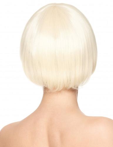 Parrucca deluxe bionda corta da donna-1