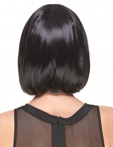 Parrucca nera carre' con frangia-1