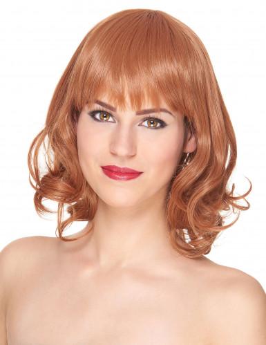 Parrucca Lusso Capelli rossi con frangetta