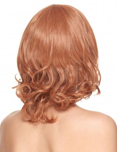 Parrucca Lusso Capelli rossi con frangetta-1