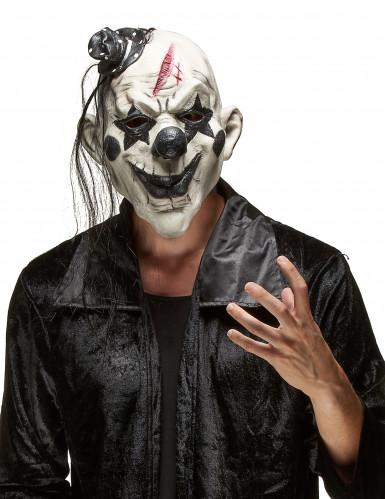 Maschera da clown rocker minaccioso adulto Halloween