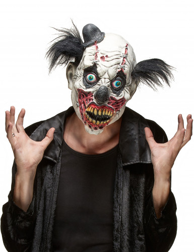 Maschera di Halloween da clown spaventoso