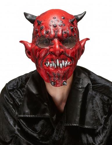 Maschera da demonio in lattice per adulto Halloween
