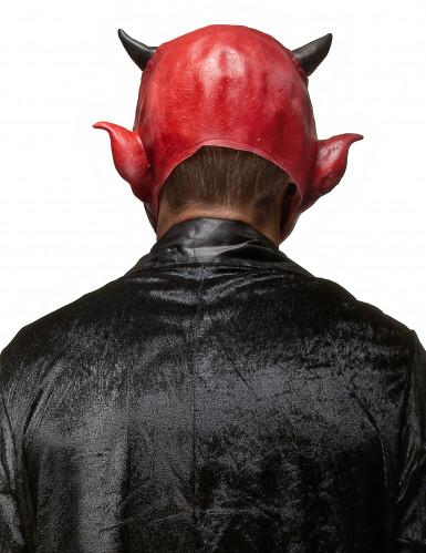 Maschera da demonio in lattice per adulto Halloween-1
