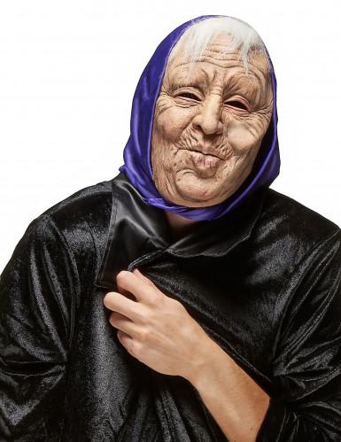 Maschera in lattice da donna anziana