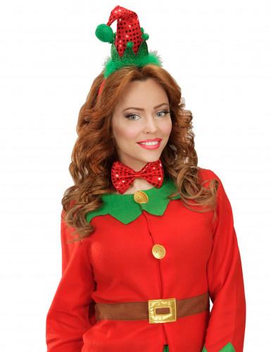 Kit cerchietto e papillon Elfo Natale