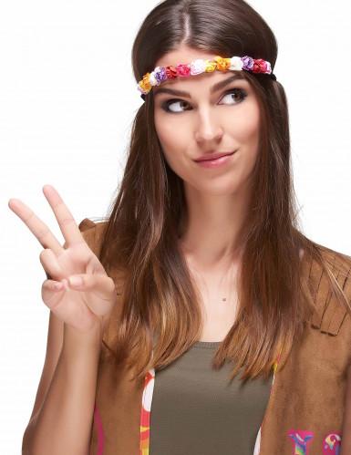 Corona di fiori mulitcolore donna-1