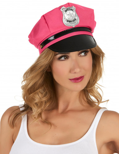 Caschetto poliziotta rosa donna