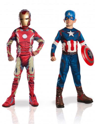 Costume Iron Man™ e Captain America™ per bambino