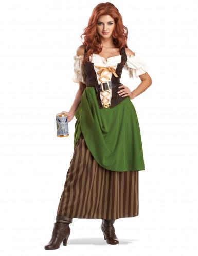 Costume da Bavarese con gonna a righe per donna
