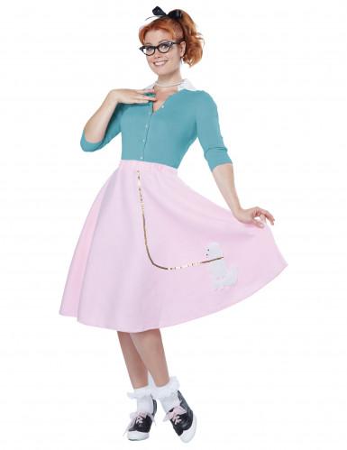 Costume Anni '50 rosa per donna
