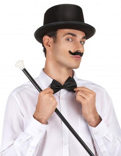 Cappello cilindro nero adulto-1