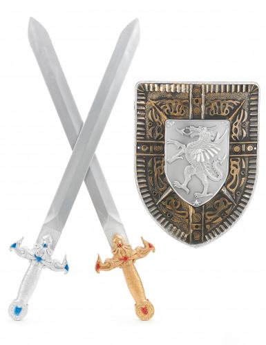 Kit scudo e 2 spade gladiatore bambino