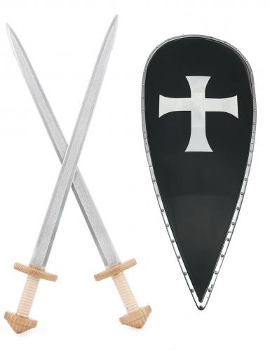 Kit scudo e spade cavaliere crociato