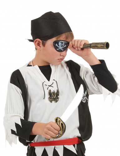 Kit da pirata - Spada, bandana, pendente, copriocchio-1