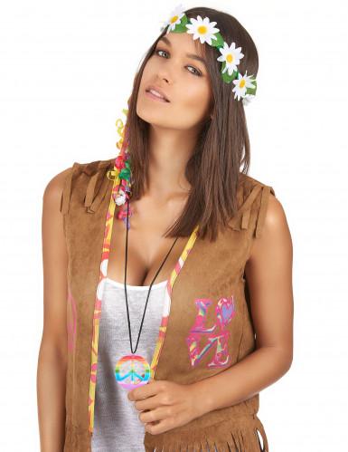 Collana hippie multicolore per adulto-1