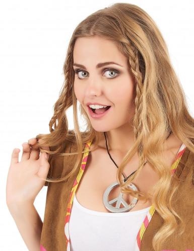Collana hippie con simbolo della pace per adulto-1