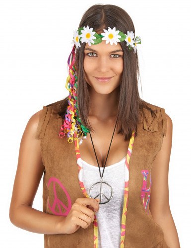Collana hippie in metallo per adulto-1
