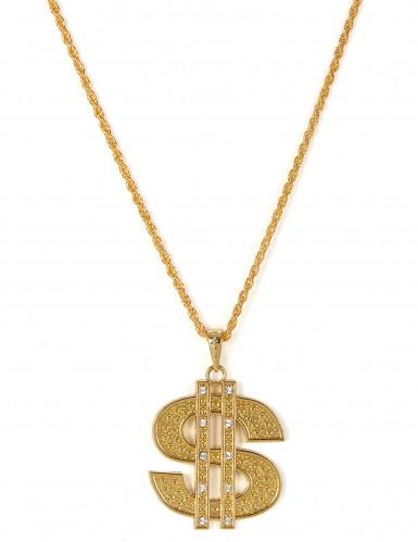 Collana con dollaro in metallo per adulto