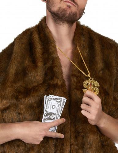 Collana con dollaro in metallo per adulto-1