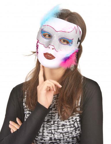 Maschera Bianca Brillante per adulto-1