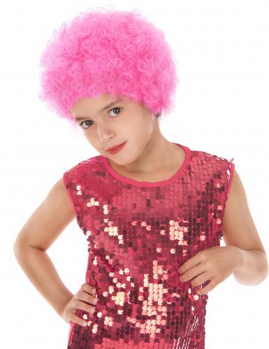 Parrucca clow rosa bambino