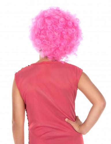 Parrucca clow rosa bambino-1