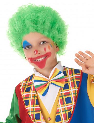 Parrucca clow verde bambino